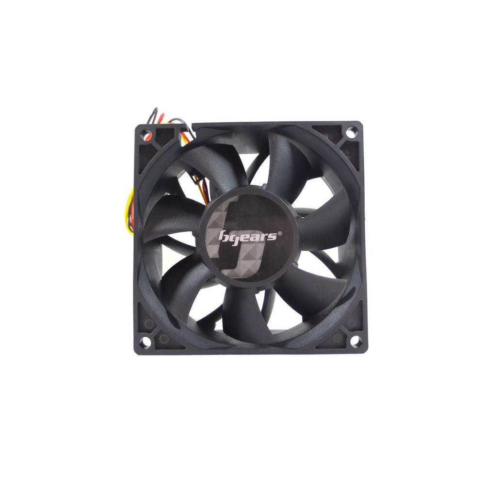 b-Blaster 90 x 38 mm 2 Ball Bearing High Speed 12-Volt DC Fan, Black