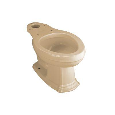 KOHLER Portrait Elongated Seatless Toilet Bowl Only in Mexican Sand-DISCONTINUED
