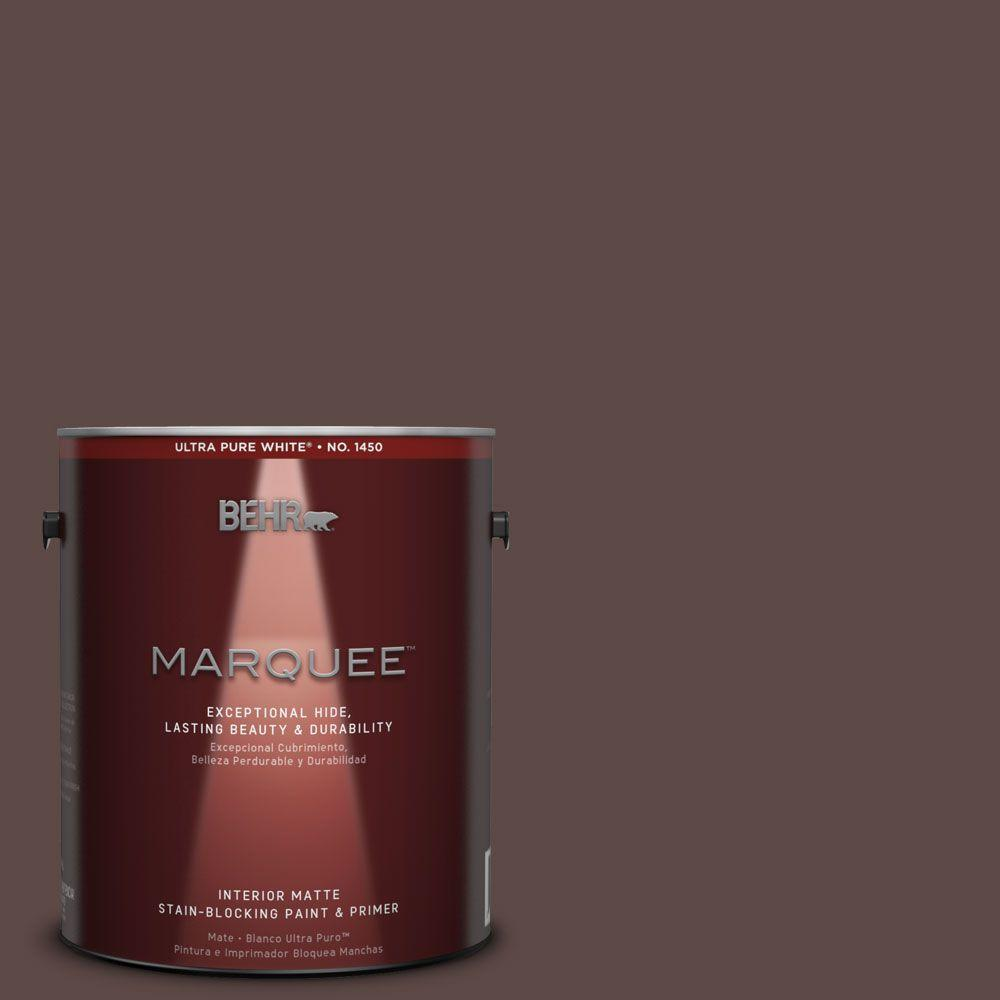 BEHR MARQUEE 1 gal. #MQ1-58 Chocolate Soul One-Coat Hide Matte Interior Paint
