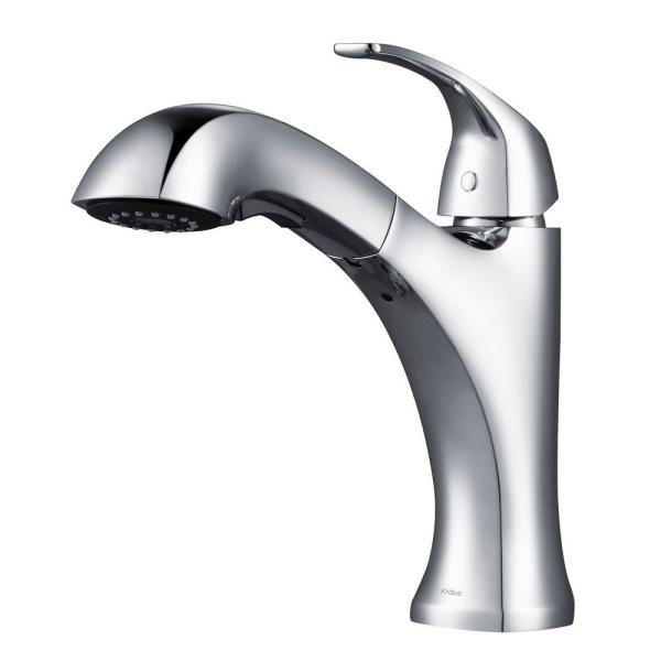 KRAUS Oren Dual Function Pull-Out Kitchen Faucet, Chrome Finish