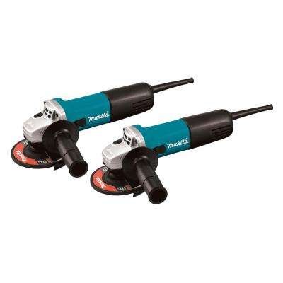 7.5-Amp 4-1/2 in. Corded Angle Grinder with AC/DC Switch (2-Pack)