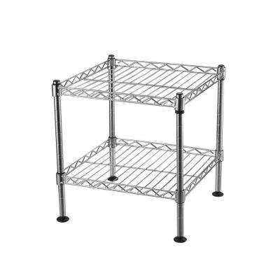 12 in. H x 12 in. W x 12 in. D 2-Shelf Light Duty Chrome Wire Shelving Unit