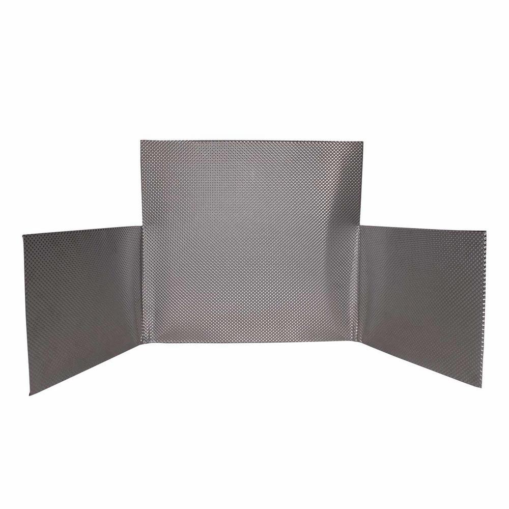 31 in. FireFlect Shield Stainless Steel Fireplace Heat Shield Insert