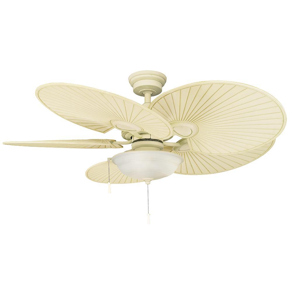 Bronze Havana Abs Blade Tropical Indoor Outdoor Ceiling: Hampton Bay Seaport 52 In. LED Indoor/Outdoor Natural Iron