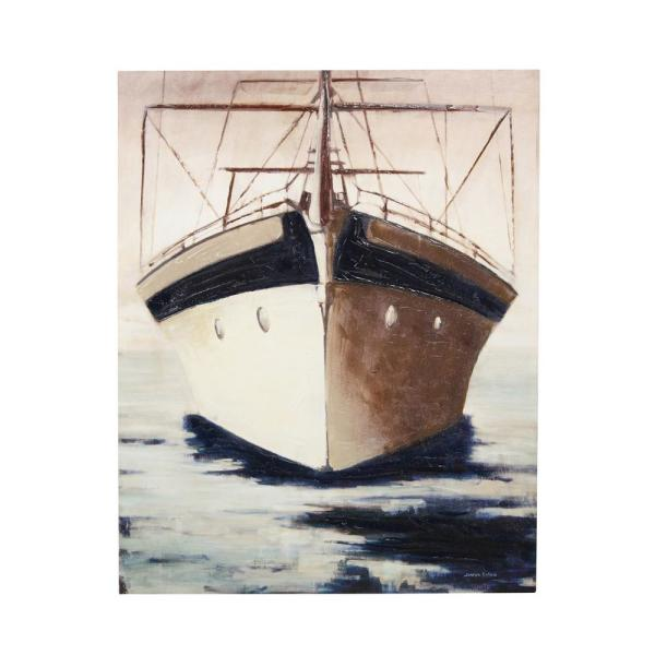 StyleCraft - Majestic Vessel Multicolored Canvas Wall Art