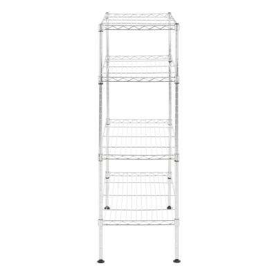 Bennett 35.8 in. 4-Tier Chrome Shoe Rack
