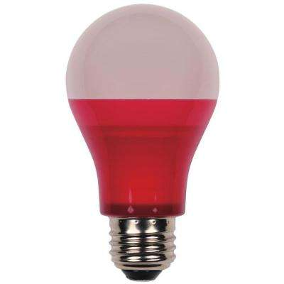 40W Equivalent Red A19 LED Indoor/Outdoor Party Light Bulb