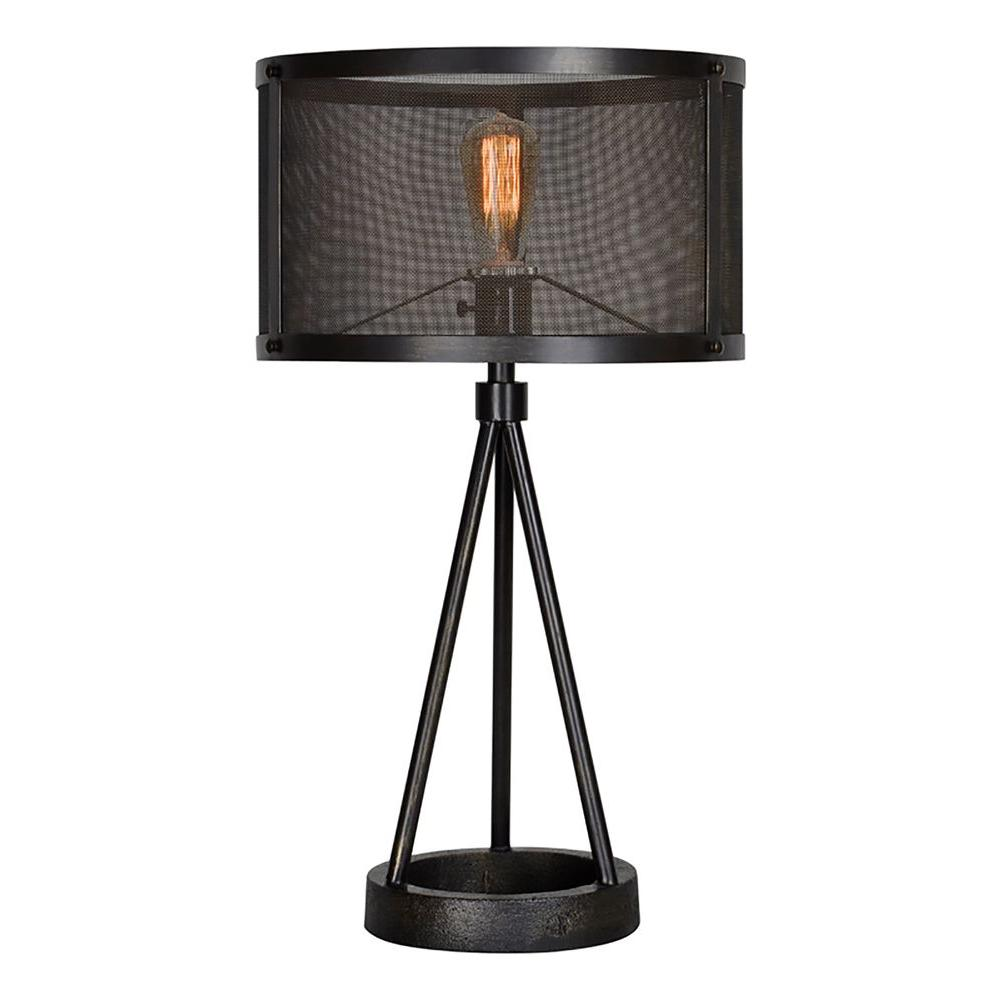 Renwil Livingstone 26 5 In Black Table Lamp Lpt594 The Home Depot