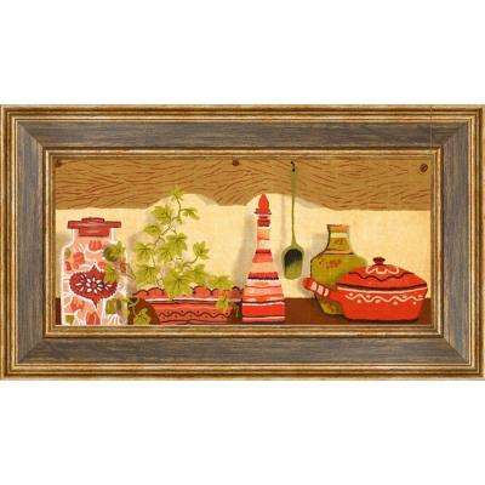 """18.5 in. x 10.5 in. """"Kitchen Shelf B"""" Framed Wall Art"""