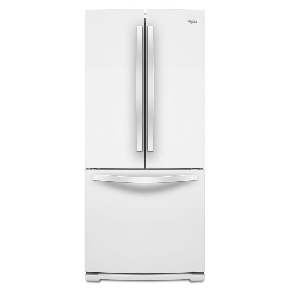 Kitchenaid 30 19 7 Cu Ft French Door Refrigerator With: Whirlpool 30 In. W 19.7 Cu. Ft. French Door Refrigerator In White-WRF560SMYW