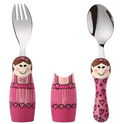 Duo Purple Princess/Ballerina 6-Piece Flatware Set