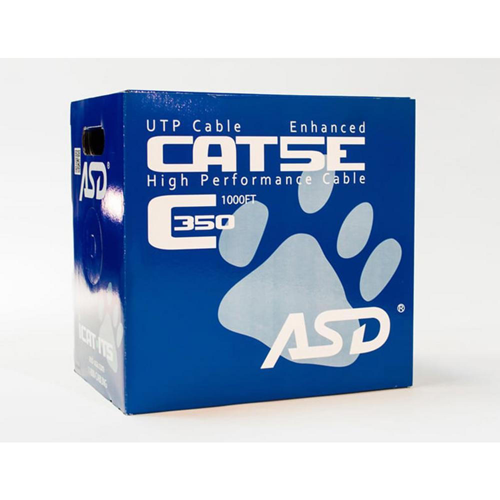Cat5e Riser 1,000 ft. Blue 350MHz CMR Box