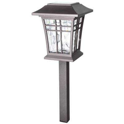 Solar Bronze Outdoor Integrated Led 3000k 12 Lumens Warm White Landscape Path Light With Water