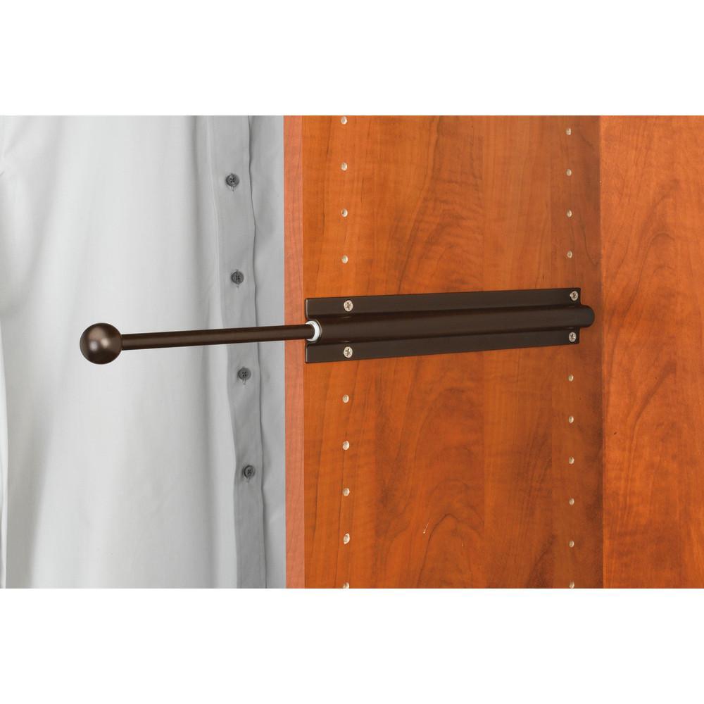 Rev A Shelf 12 In Oil Rubbed Bronze Standard Valet Rod