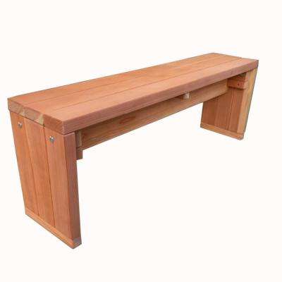 6 ft. Natural Unfinished Redwood Solid Outdoor Bench