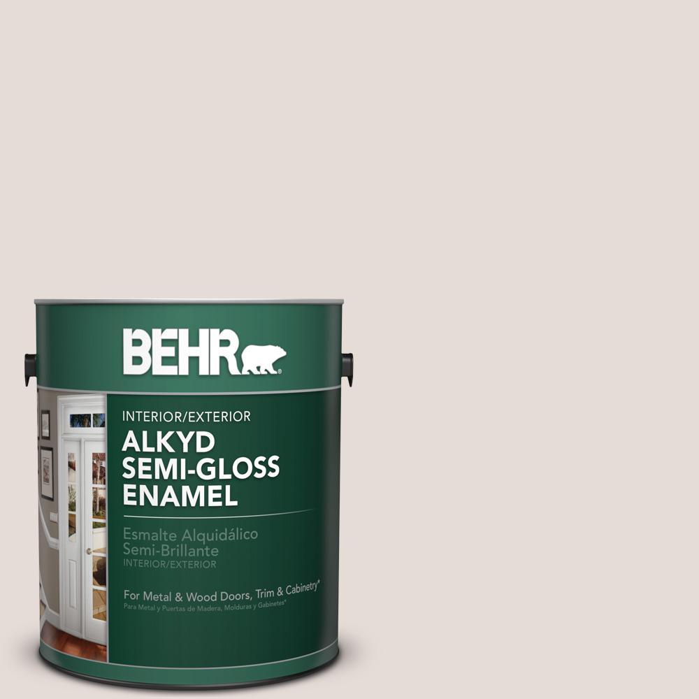 Behr 1 Gal N220 Spun Wool Semi Gloss Enamel Alkyd Interior