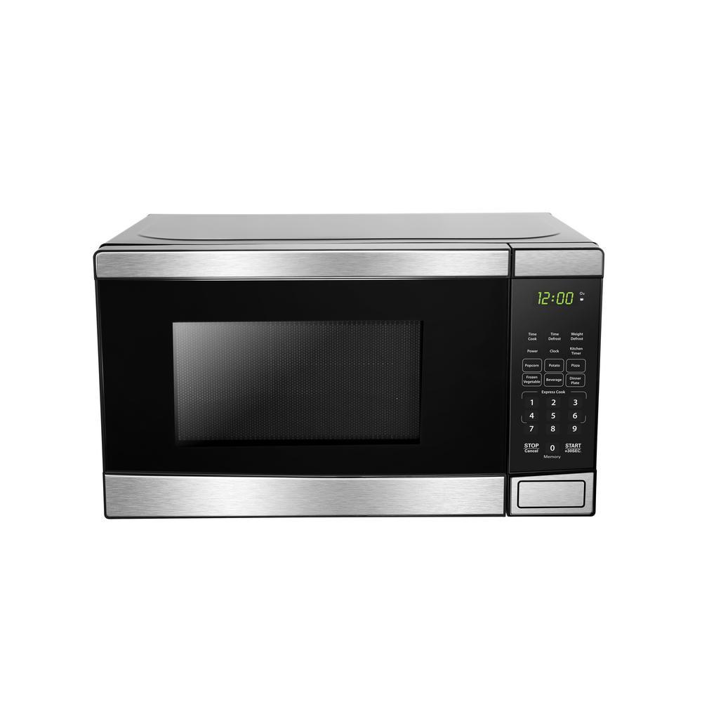 Danby 0 7 Cu Ft Countertop Microwave In Stainless Steel
