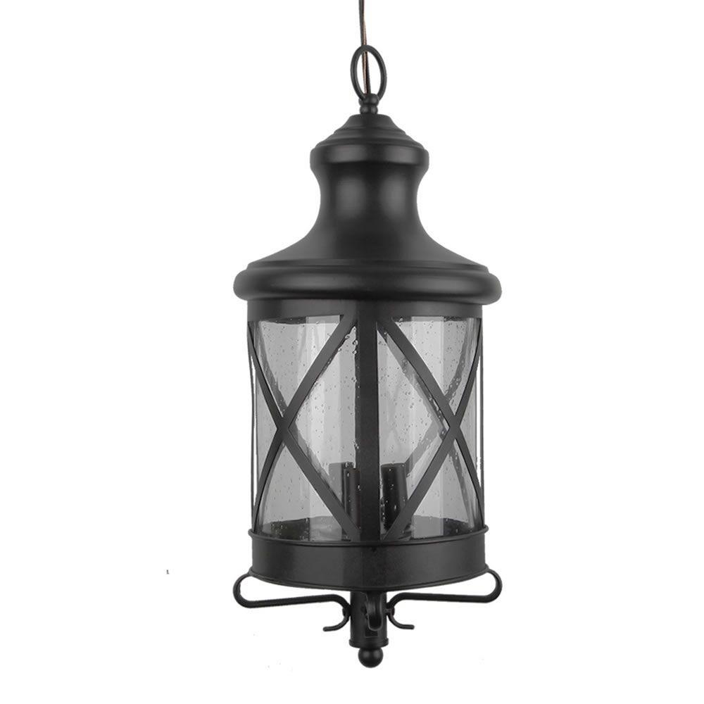 Taysom Black 3-Light Outdoor Hanging Lantern