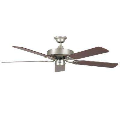 Calli 42 in. Satin Nickel Ceiling Fan with 5 Blades