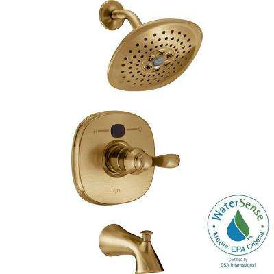 Temp2O Transitional Single-Handle Tub and Shower Faucet Trim Kit in Champagne Bronze (Valve Not Included)