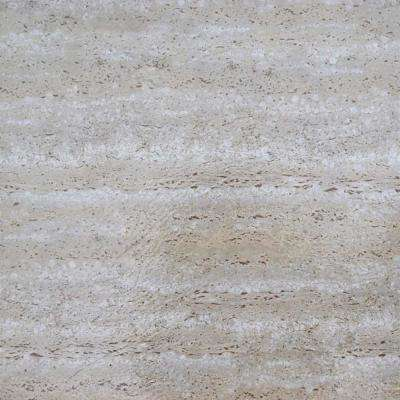 Nexus Grey 12 in. x 12 in. Peel and Stick Travatine Marble Vinyl Tile (20 sq. ft./case)