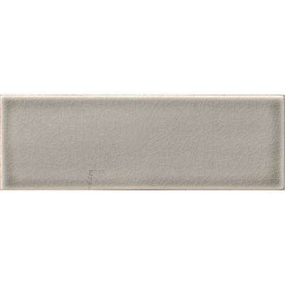 Dove Gray 4 in. x 12 in. Handcrafted Glazed Ceramic Wall Tile (5 sq. ft. / case)