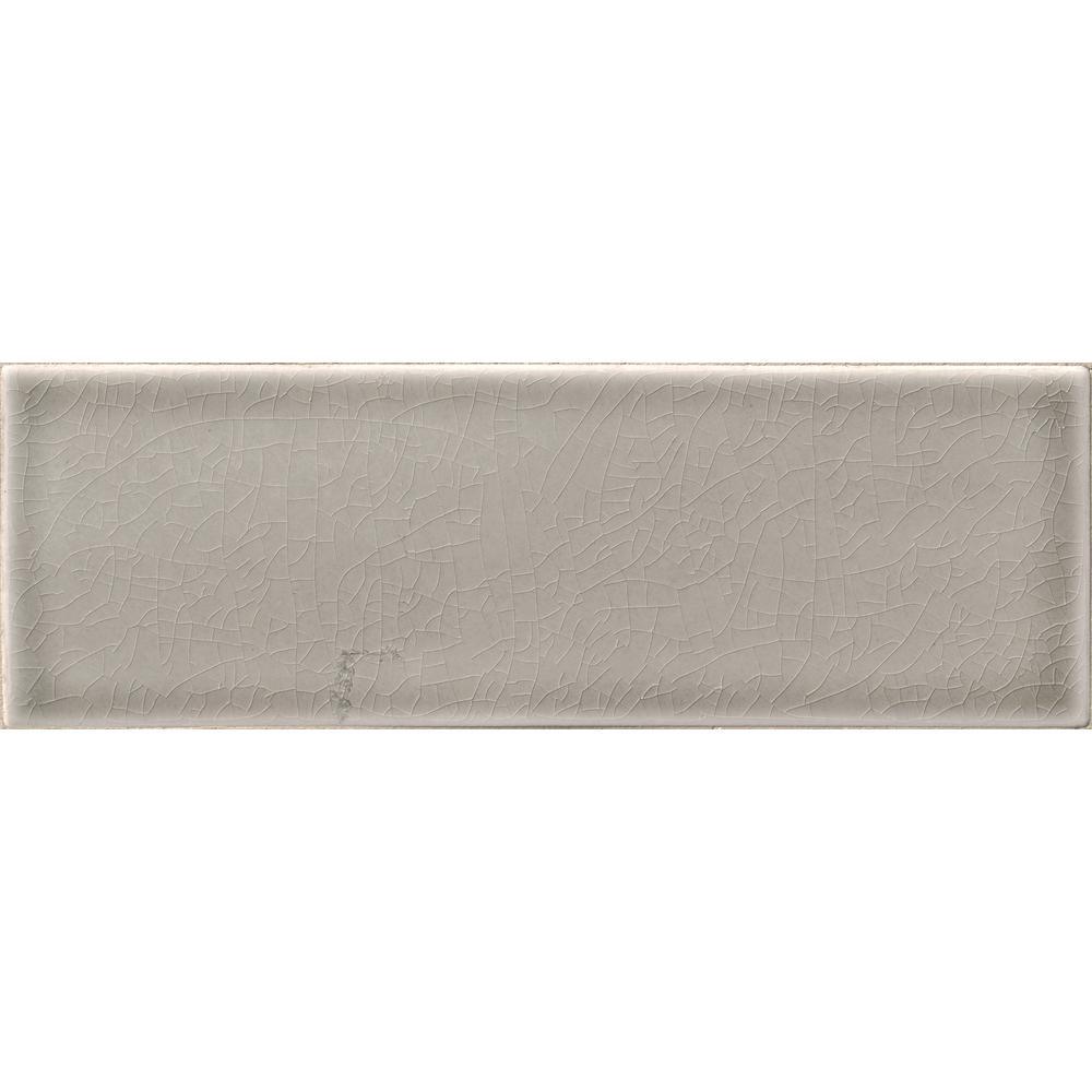 4x12 ceramic tile tile the home depot dove gray 4 in x 12 in handcrafted glazed ceramic wall tile 5 dailygadgetfo Image collections