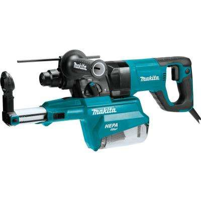 1 in. AVT Rotary Hammer Accepts SDS-PLUS Bits with HEPA Dust Extractor 3-Mode Variable Speed Case (D-Handle)