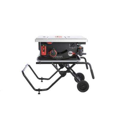 1.5 HP 15 Amp 10 in. Corded Jobsite Saw with Mobile Cart