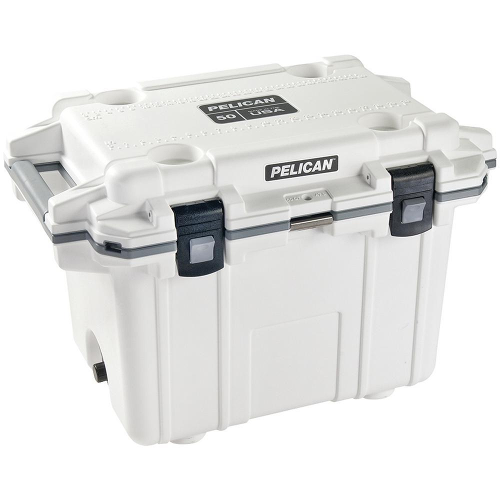 Pelican 50 qt white elite deluxe cooler 50q 1 whtgry for Coole accessoires