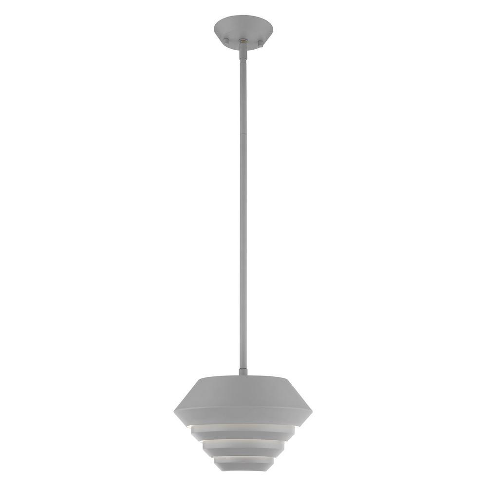 Livex Lighting Amsterdam 1 Light Nordic Gray Mini Pendant