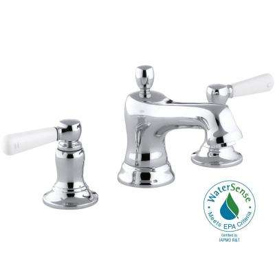 Bancroft 8 in. Widespread 2-Handle Low-Arc Water-Saving Bathroom Faucet in Polished Chrome