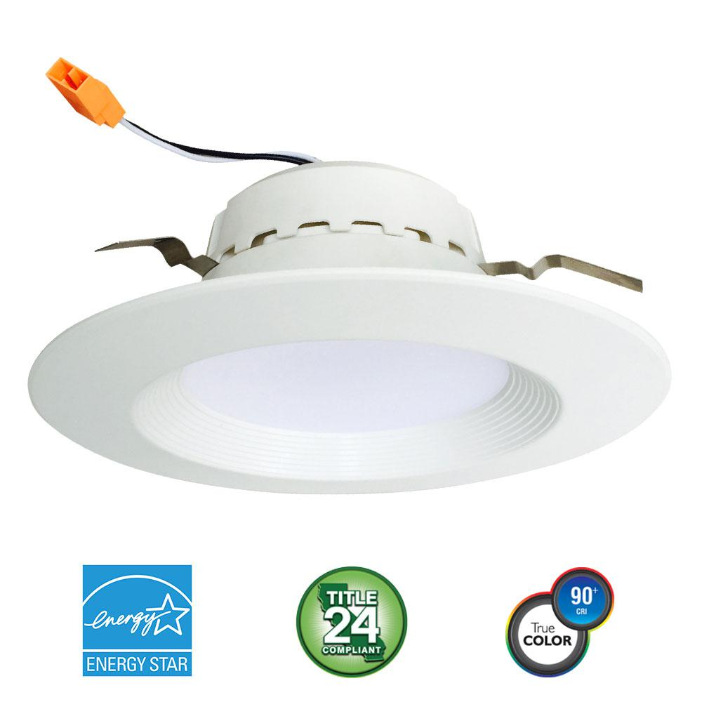4 in. 75-Watt Equivalent 13-Watt, Matte White Dimmable Recessed Integrated LED