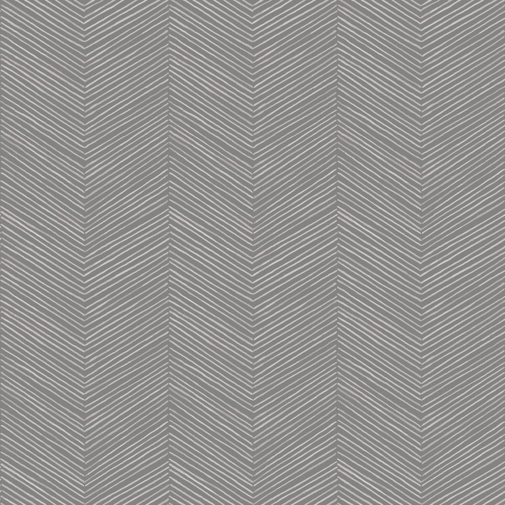 Arrow Weave Charcoal Wallpaper