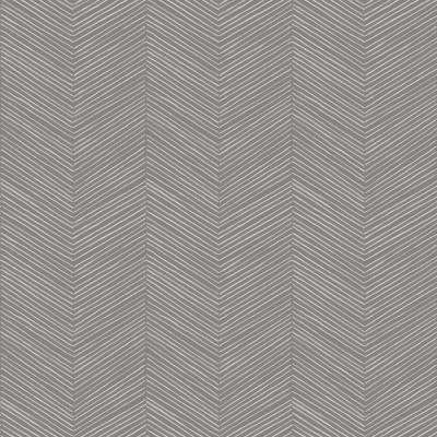 Arrow Weave Charcoal Wallpaper