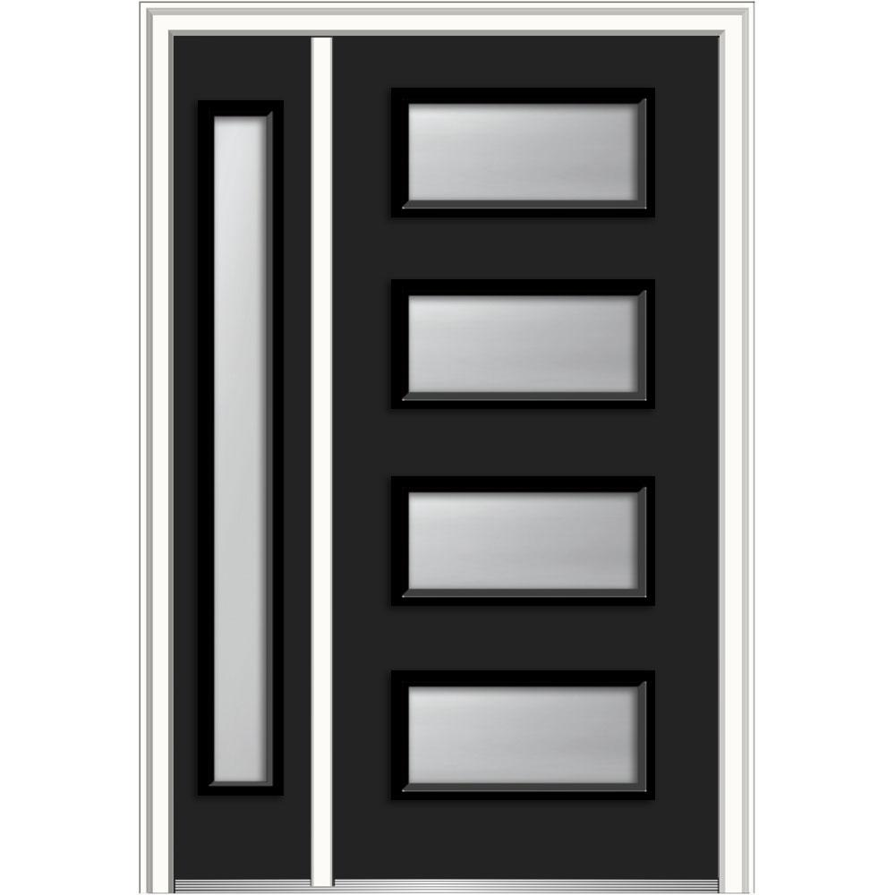 MMI Door 50 in. x 80 in. Celeste Frosted Glass Left-Hand Inswing 4 ...