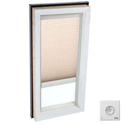 Solar Powered Light Filtering Lovely Latte Skylight Blind for FCM 4646, QPF 4646, VCM 4646, VCE 4646, VCS 4646 Models