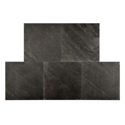 Black Line 12 in. x 12 in. Slate Peel and Stick Wall Tile (5 sq. ft. / pack)