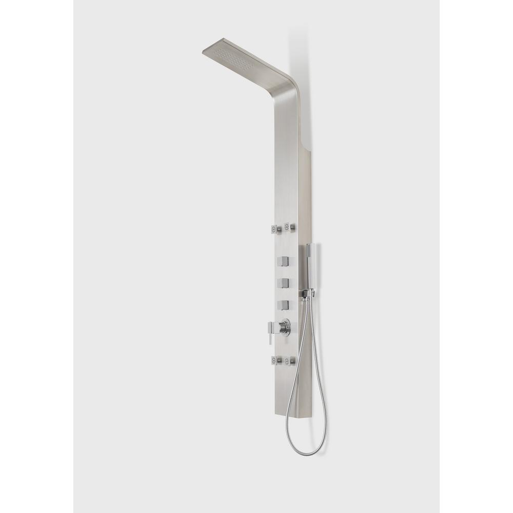 Capri IV Shower Panel System with Rain Shower Head and Pressure