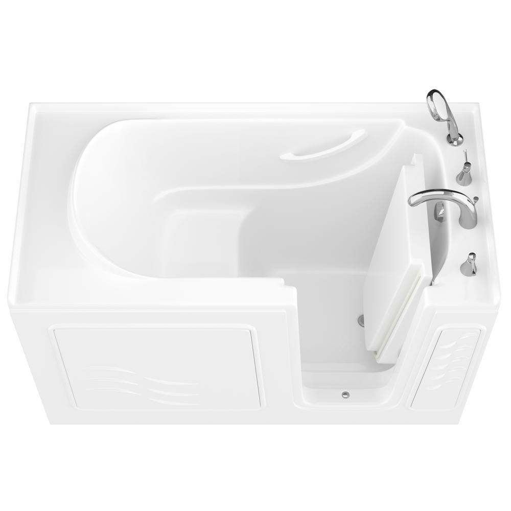 HD Series 30 in. x 60 in. Right Drain Quick Fill Walk-In Soaking Bathtub in White
