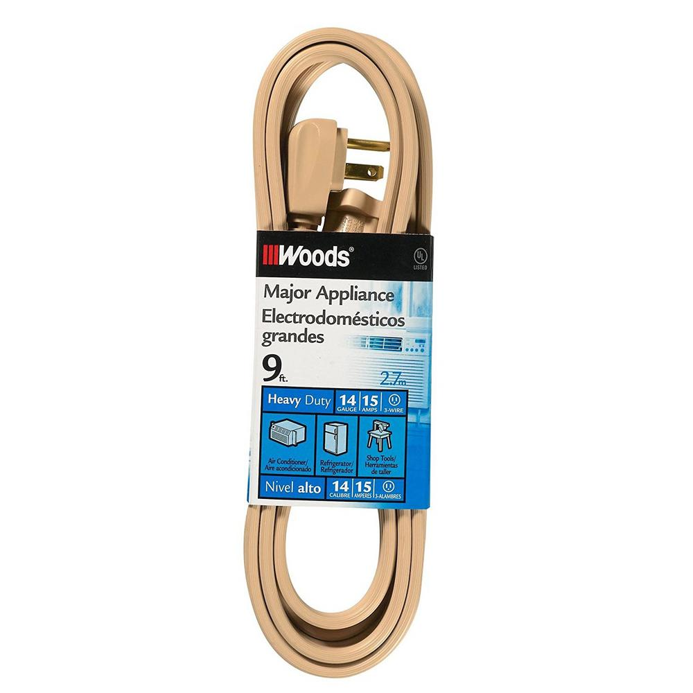 Appliance cords extension cords the home depot 143 spt 3 3 wire 15 amp air greentooth Image collections