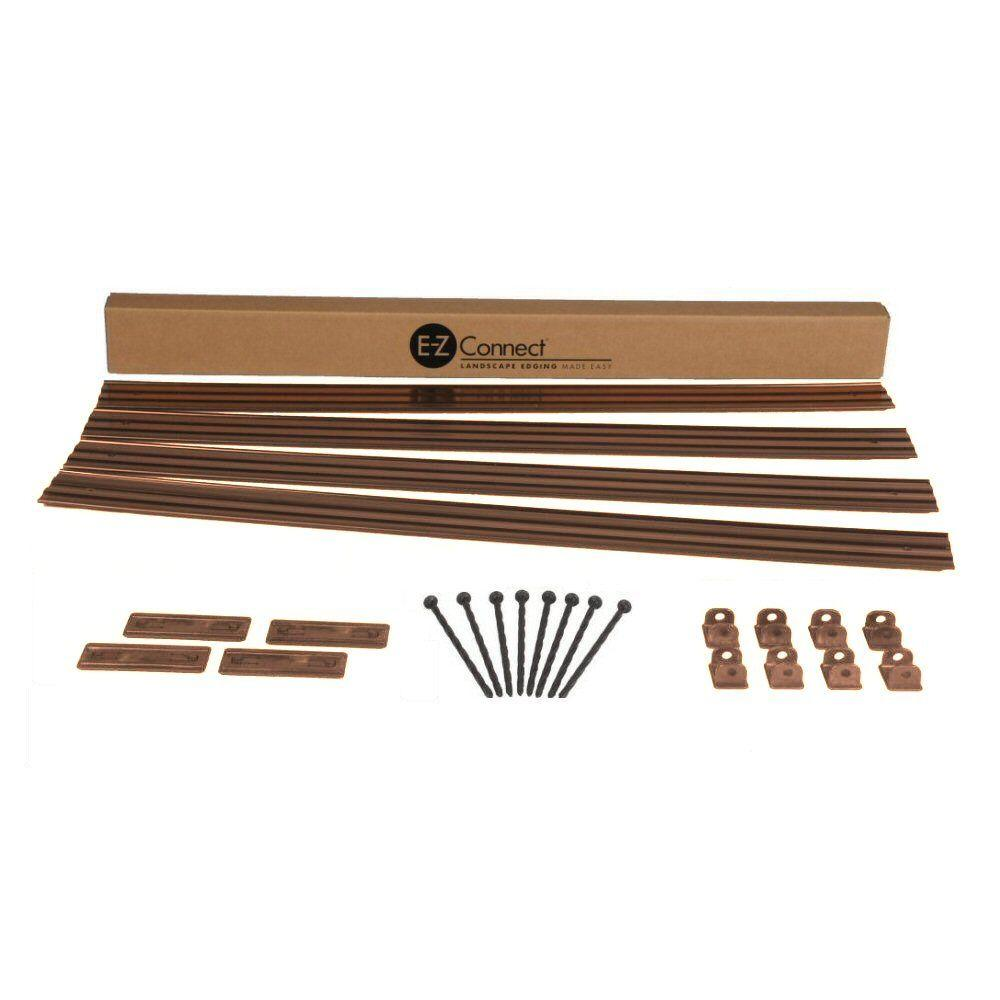 Dimex E-Z Connect 16 ft. Professional Landscape Edging Project Kit in Brown