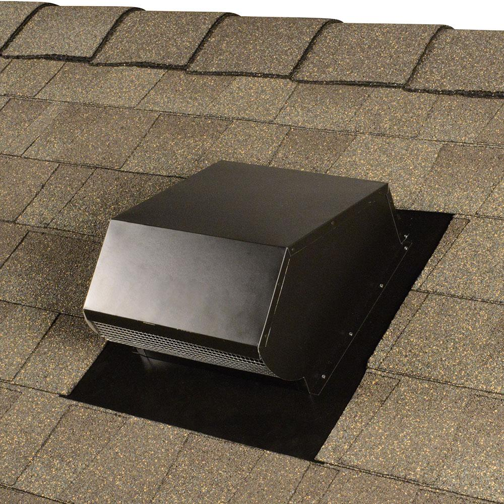 Master Flow 10 In Goose Neck Vent Roof Cap In Black Gnv10bl The Home Depot