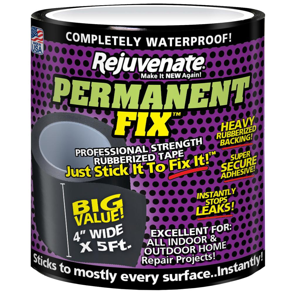 Rejuvenate Permanent Fix 5 ft. L x 4 in. W Professional Strength Rubberized Tape