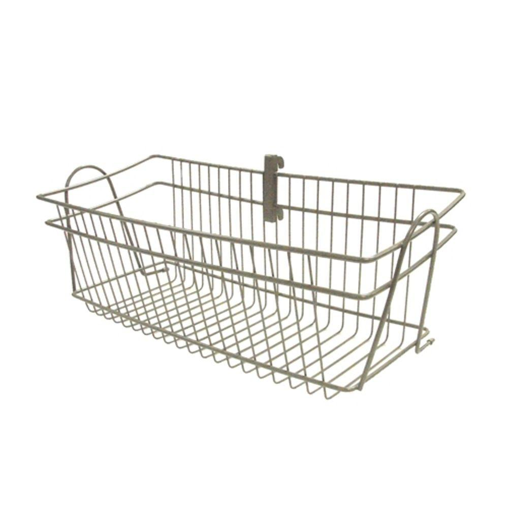 Superbe ClosetMaid ShelfTrack 19.5 In. X 8.4 In. Nickel Wire Basket 33840   The  Home Depot