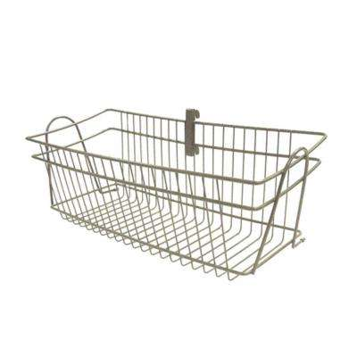 ShelfTrack 19.5 in. x 8.4 in. Nickel Wire Basket