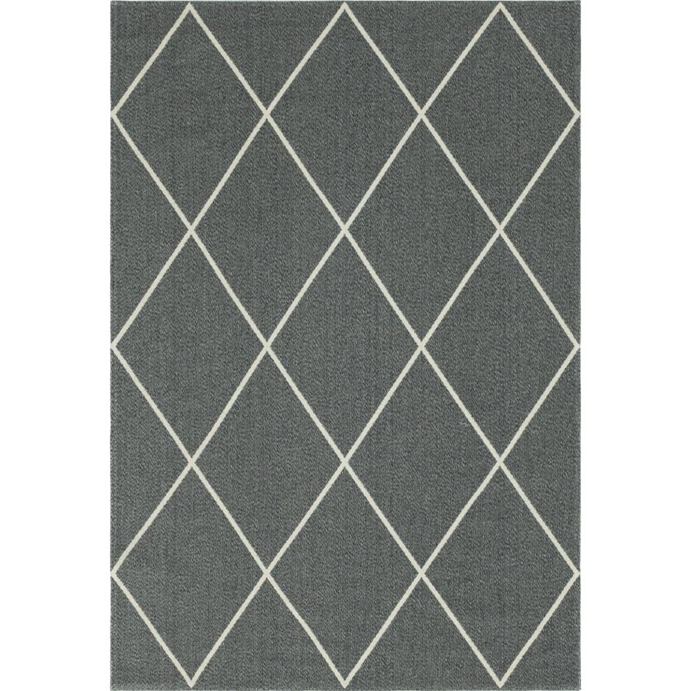 Unique Loom Decatur Diamond Dark Gray Ivory 6 Ft 4 In X 9 Ft Area Rug 3148069 The Home Depot