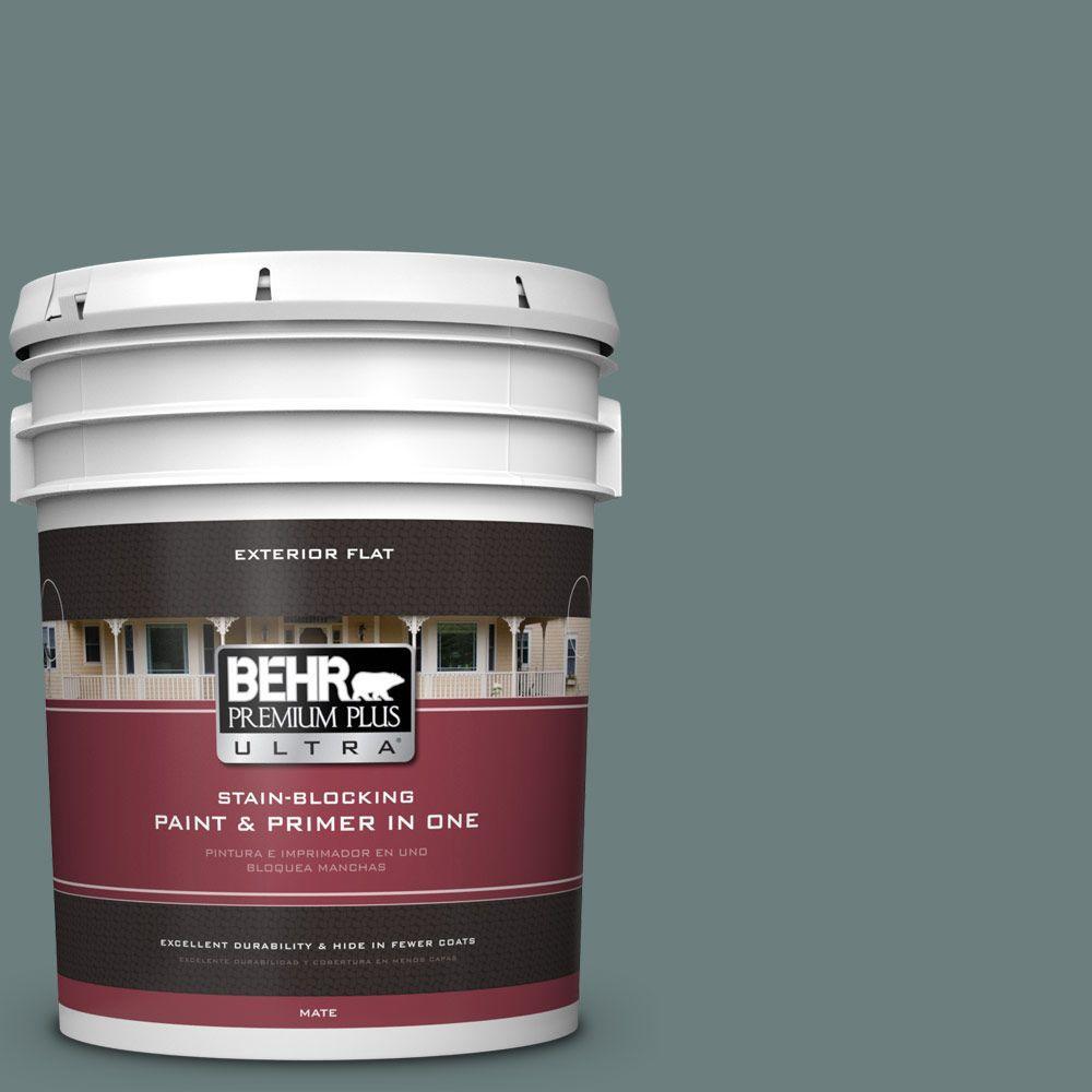 BEHR Premium Plus Ultra 5-gal. #N440-5 Coney Island Flat Exterior Paint