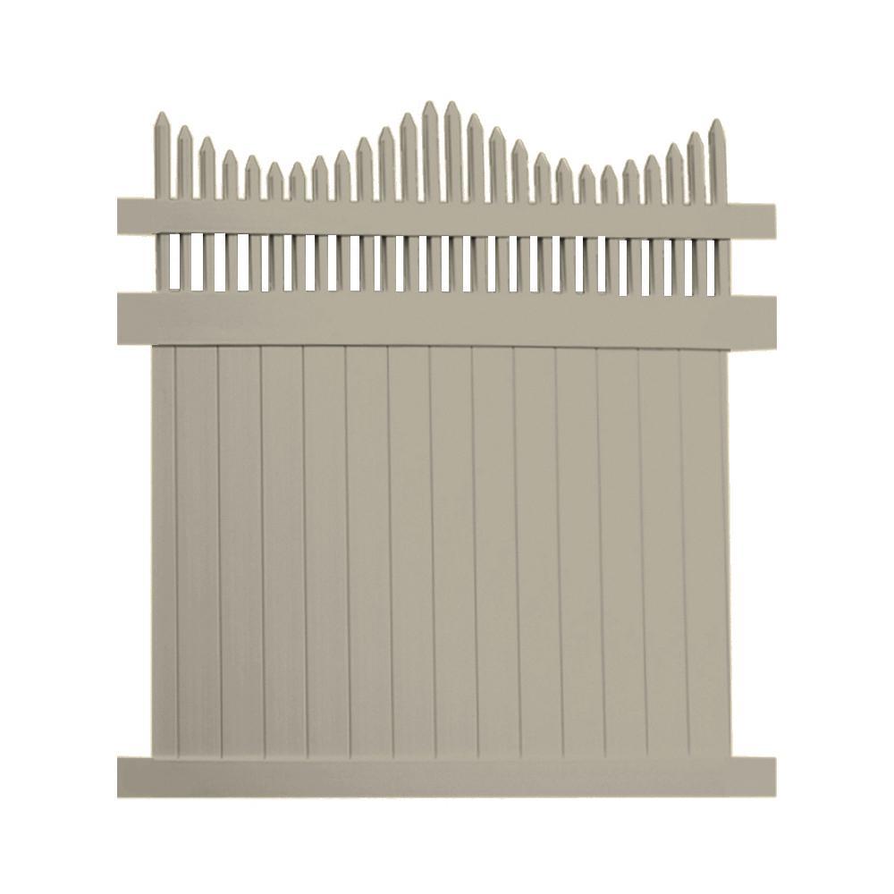 Louisville 5 ft. H x 6 ft. W Khaki Vinyl Privacy Fence Panel Kit