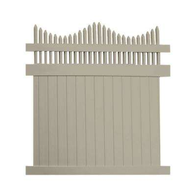 Louisville 6 ft. H x 6 ft. W Khaki Vinyl Privacy Fence Panel Kit